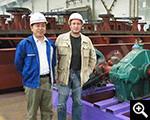 العملاء وخبراء شينخاي في مصنع الإنتاج