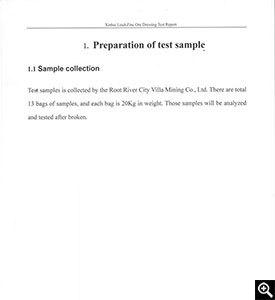 Preparation of sample