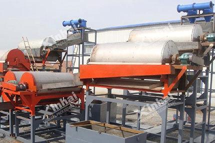 خط إنتاج لفصل رمل الكوارتز